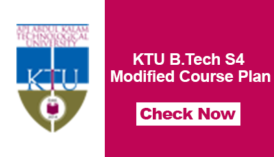 KTU B.Tech S4 Modified Course Plan
