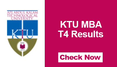 KTU MBA T4 Results 2017