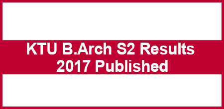 KTU B.Arch S2 Results 2017