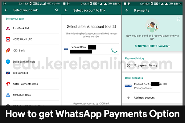 enable whatsapp payments upi