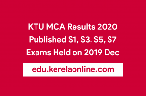 KTU MCA Results 2020